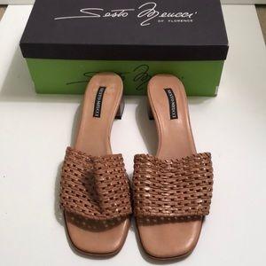Seato Meucci woven leather slides